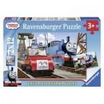 Ravensburger-07568 2 Jigsaw Puzzles - Thomas & Friends