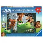 Ravensburger-07571 2 Jigsaw Puzzles - The Good Dinosaur