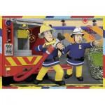 Ravensburger-07584 2 Jigsaw Puzzles - Fireman Sam