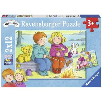 Ravensburger-07588 2 Jigsaw Puzzle - Goya
