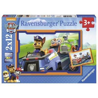 Ravensburger-07591 2 Jigsaw Puzzles - Paw Patrol