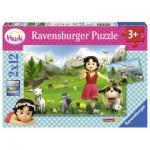 Ravensburger-07593 2 Jigsaw Puzzles - Heidi