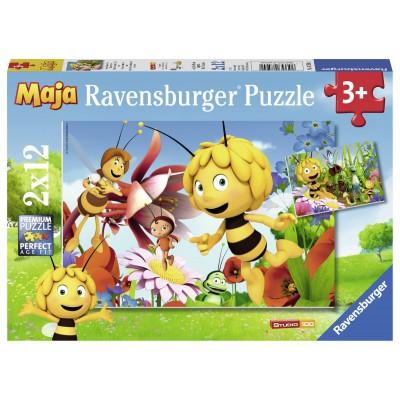 Ravensburger-07594 2 Jigsaw Puzzles - Bee Maja