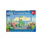 Ravensburger-07595 2 Jigsaw Puzzles - The Good Dinosaur