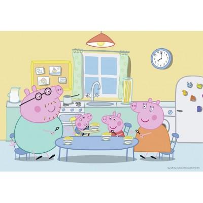 Ravensburger-07596 2 Jigsaw Puzzle - Peppa Pig