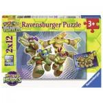 Ravensburger-07597 2 Jigsaw Puzzle - Ninja Turtles