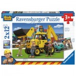 Ravensburger-07604 2 Jigsaw Puzzles - Bob the Builder