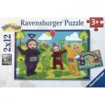 Ravensburger-07605 2 Jigsaw Puzzles - Teletubies