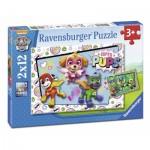 Ravensburger-07613 2 Jigsaw Puzzles - Paw Patrol