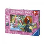 Ravensburger-07620 2 Jigsaw Puzzles - Disney Princess
