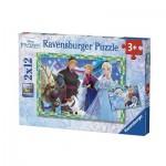 Ravensburger-07621 2 Jigsaw Puzzles - Frozen