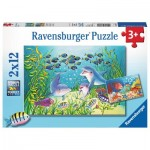 Ravensburger-07625 2 Puzzles - On the Seabed