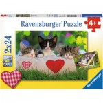 Ravensburger-07801 2 Jigsaw Puzzles - Cats