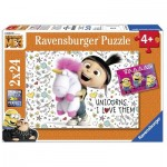 Ravensburger-07811 2 Jigsaw Puzzles - Minions