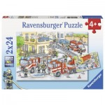 Ravensburger-07814 2 Jigsaw Puzzles - Heroes in action