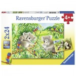 Ravensburger-07820 2 puzzles - Cute Koalas and Pandas