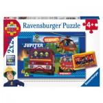 Ravensburger-07826 2 Puzzles - Fireman Sam