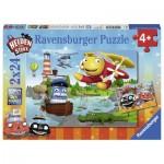 Ravensburger-07827 2 Puzzles - Helden der Stadt