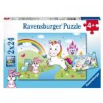 Ravensburger-07828 2 Puzzles - Fabulous Unicorn