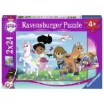 Ravensburger-07831 2 Puzzles - Nella The Princess Knight