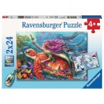 Ravensburger-07834 2 Puzzles - The Adventures of the Sirens