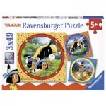 Ravensburger-08000 3 Jigsaw Puzzles - Yakari
