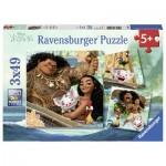 Ravensburger-08004 3 Jigsaw Puzzles - Vaiana