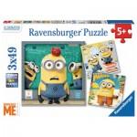 Ravensburger-08007 3 Jigsaw Puzzles - Minions