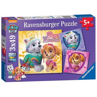 Ravensburger-08008 3 Jigsaw Puzzles - Paw Patrol