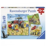Ravensburger-08012 3 Jigsaw Puzzles - Large Machines