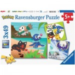 Ravensburger-08019 3 Jigsaw Puzzles - Pokemon