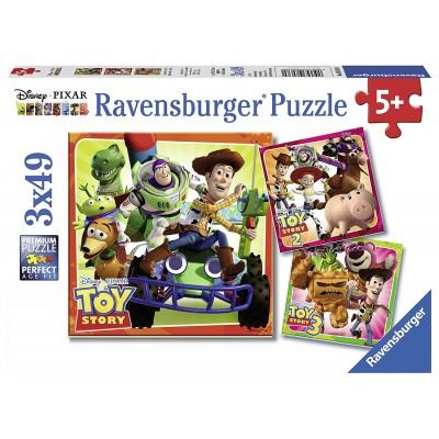 Ravensburger-08038 3 Puzzles - Disney Pixar Toy Story