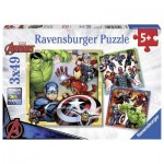 Ravensburger-08040 3 Puzzles - Marvel Avengers