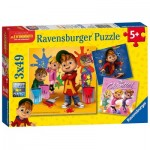 Ravensburger-08044 3 Puzzles - Alvinnn and The Chipmunks