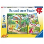 Ravensburger-08051 3 Puzzles - Tales and Legends