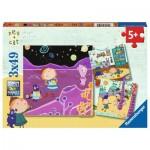 Ravensburger-08059 3 Puzzles - Peg + Cat
