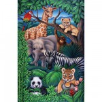 Ravensburger-08601 Jigsaw Puzzle - 35 Pieces - Jungle animals