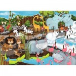 Puzzle  Ravensburger-08778 Day at the Zoo