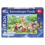 Ravensburger-08859 2 puzzles - Blanche Neige and the 7 dwarfs