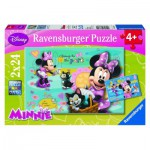 Ravensburger-08862 2 Jigsaw Puzzles - Minnie Mouse