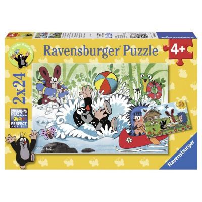 Ravensburger-08863 2 Puzzles - The Mole