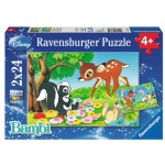 Ravensburger-08864 2 Puzzles - Bambi