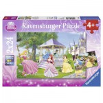 Ravensburger-08865 2 Puzzles - Magical Princesses
