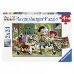 Ravensburger-08874 2 Puzzles - Toy Story