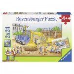 Ravensburger-08899 2 Puzzles - On the Work-site BTP