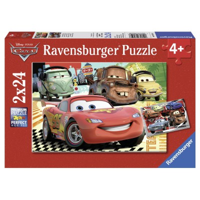 2 puzzles cars ravensburger 08959 24 pieces jigsaw puzzles cars jigsaw puzzle. Black Bedroom Furniture Sets. Home Design Ideas