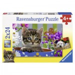 Puzzle  Ravensburger-08971 Cat and Dog