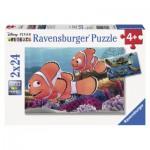 Ravensburger-09044 2 Puzzles- The Adventures of Nemo