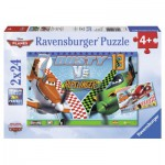 Ravensburger-09052 2 puzzles - Planes: Dusty the brave Aviator