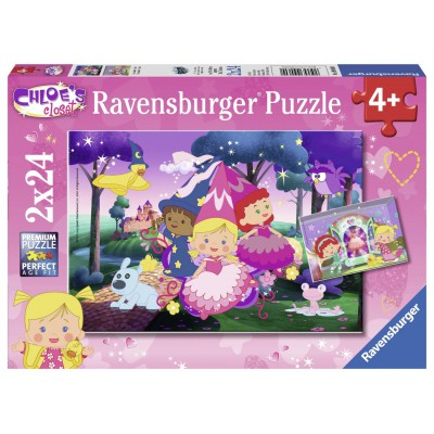 Ravensburger-09060 2 Jijgsaw Puzzles - Chloe